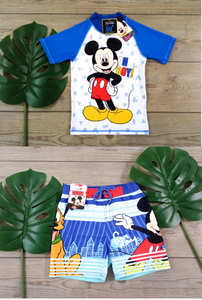POLO + SHORT BAÑO NIÑOS CON PROTECCION UV MICKEY - ORIGINAL MICKEY - PAPAYAPERU.COM