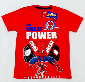 POLO SPIDERMAN MANGA CORTA ROJO - SPIDERMAN ORIGINAL - PAPAYAPERU.COM