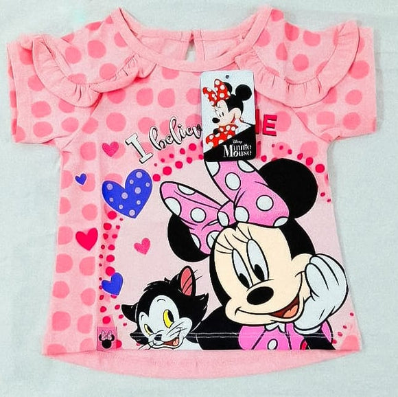POLO MINNIE MOUSE MANGA CORTA ROSADO - DISNEY ORIGINAL - PAPAYAPERU.COM