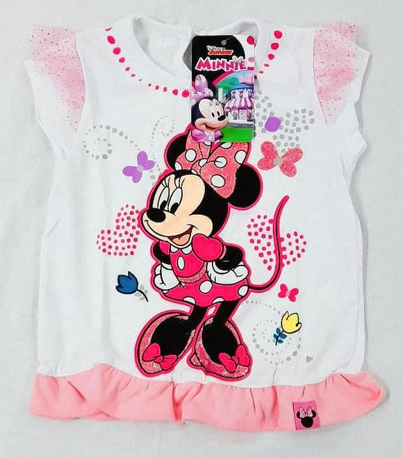 POLO MINNIE MOUSE MANGA CORTA BLANCO - DISNEY ORIGINAL - PAPAYAPERU.COM