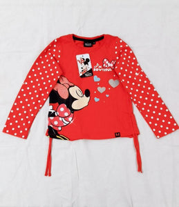 POLO MINNIE MOUSE MANGA LARGA ROJO - DISNEY ORIGINAL - PAPAYAPERU.COM