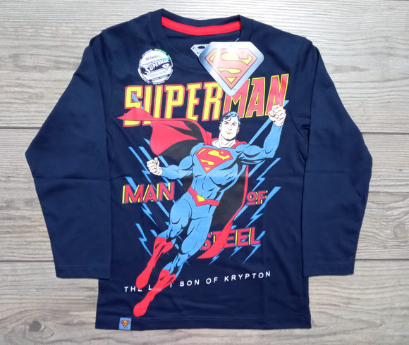 POLO SUPERMAN MANGA LARGA - DC COMICS ORIGINAL - PAPAYAPERU.COM