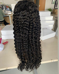 Frontal transparent Lace Wig Deep wave