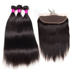 18'' Frontal Chic Straight + 2 Bundles