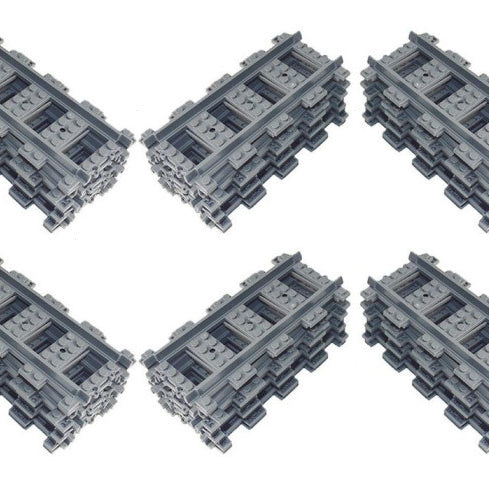 Bricklicious offers incredible value LEGO® compatible train track with free delivery worldwide
