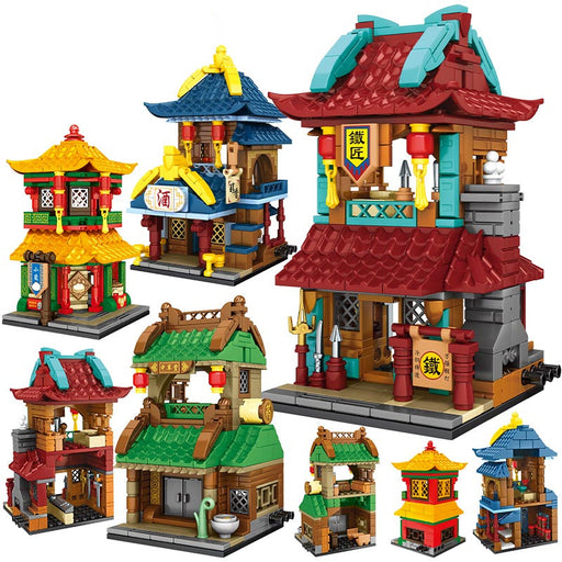 Add an antique Chinatown to your town or city with this 1187 piece LEGO® compatible Antique Asian Street Stores set from Bricklicious with free delivery worldwide