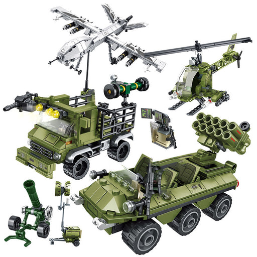 Beef up your armed forces using this LEGO® compatible Army Vehicle and Drone Set from Bricklicious with free delivery worldwide