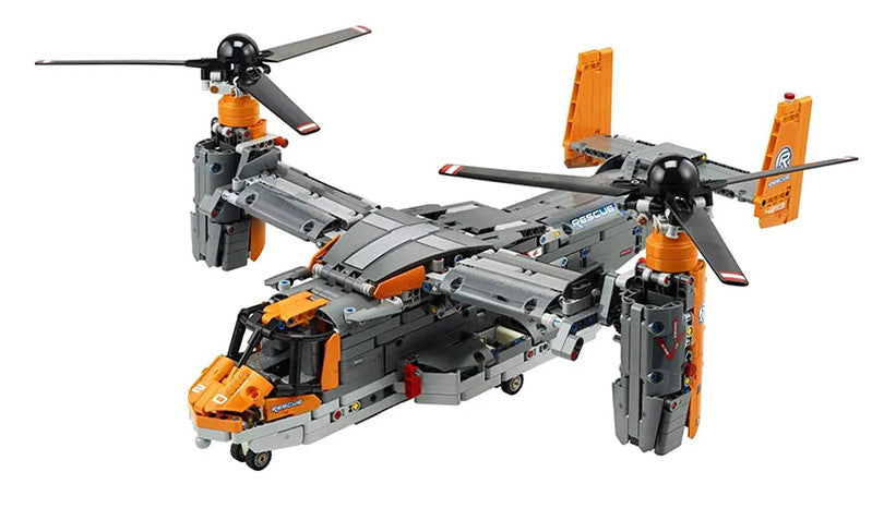 Build your own Bell Boeing V-22 Osprey with this 1636 piece LEGO® compatible set from Bricklicious with free delivery worldwide