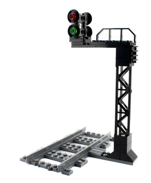 Protect trains with the LEGO® compatible Bidirectional Train Signal from Bricklicious, with free delivery worldwide