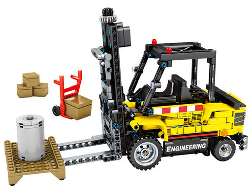Move cargo easily with this 556 piece LEGO® compatible Cargo Forklift set from Bricklicious with free delivery worldwide