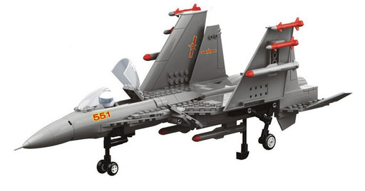Build your own J15 twin-jet carrier-based fighter aircraft with this awesome 281 piece LEGO® compatible set from Bricklicious with free delivery worldwide