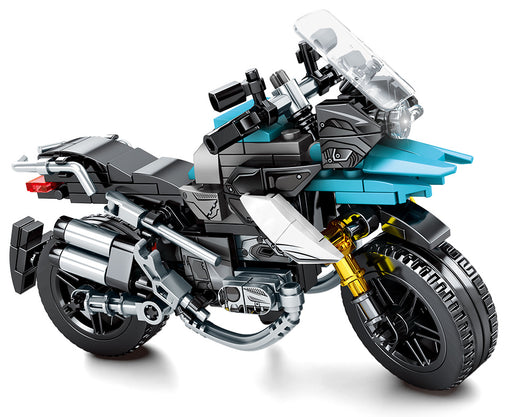 Head offroad with this 255 piece LEGO® compatible European Offroad Motorcycle set from Bricklicious with free delivery worldwide