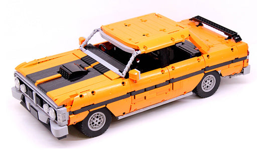 Outperform all other classic cars with this 1866 piece LEGO® compatible Ford Falcon XY GTHO III set from Bricklicious with free delivery worldwide