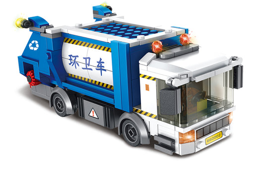 Stay tidy with the 620 piece LEGO® compatible Garbage and Recycling Truck set from Bricklicious with free delivery worldwide