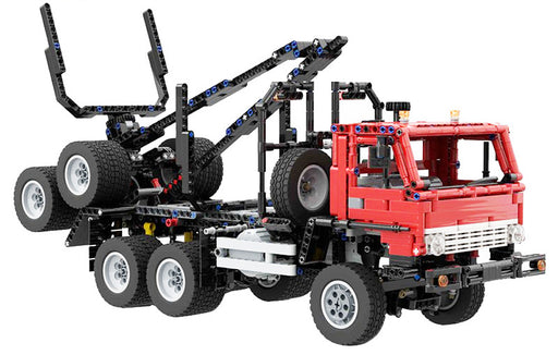 Get logs from the site to the mill with the 1307 piece LEGO® compatible Kamaz Logging Truck and Trailer with optional Motor set from Bricklicious with free delivery worldwide
