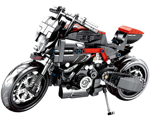 Cruise the open roads on your 702 piece LEGO® compatible Large Motorcycle set from Bricklicious with free delivery worldwide