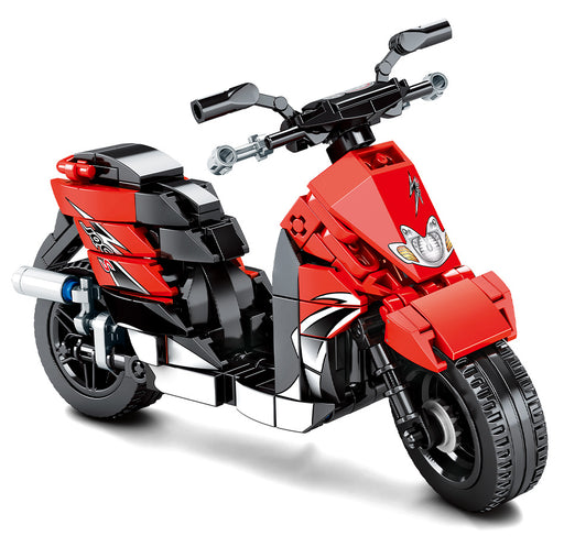 Ride the city streets with this 268 piece LEGO® compatible powerful motor scooter set from Bricklicious with free delivery worldwide