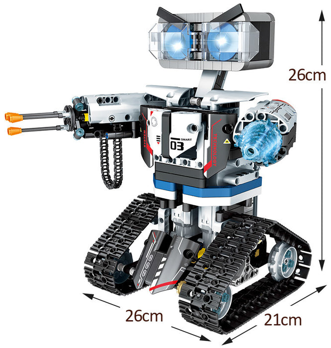 Build your own radio control robot with this 611 piece LEGO® compatible Remote Control Weapon Robot set from Bricklicious with free delivery worldwide