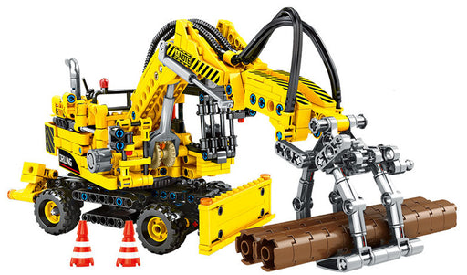 Efficiently move logs with this 715 piece LEGO® compatible Timber Crane set from Bricklicious with free delivery worldwide