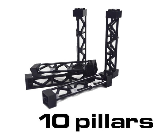 Save time when building your own train track elevation support system with these LEGO® compatible elevation pillars from Bricklicious with free delivery worldwide