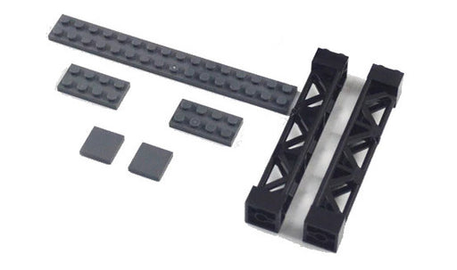 Elevate trains on your layout with this pair of LEGO® compatible Train Track Elevation Supports from Bricklicious with free delivery worldwide