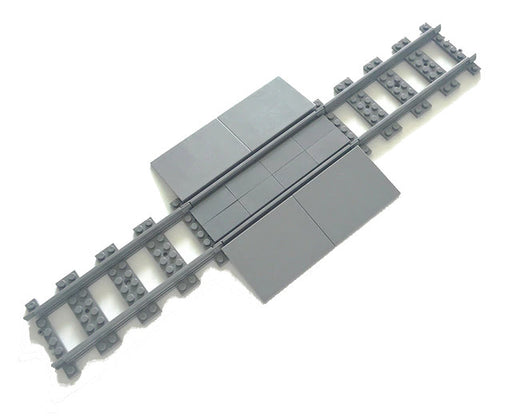 Let roads cross rail tracks with these LEGO® compatible Train Track Road Rail Crossings from Bricklicious with free delivery worldwide