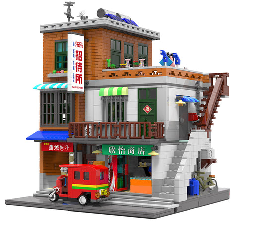 Enjoy modeling contemporary street life with this 2706 piece LEGO® compatible Urban Village Scene Building set from Bricklicious with free delivery worldwide