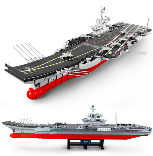 Enjoy the excitement and fire up your imagination with this outstanding 1:350 scale 3010 piece LEGO® compatible aircraft carrier set from Bricklicious with free delivery worldwide