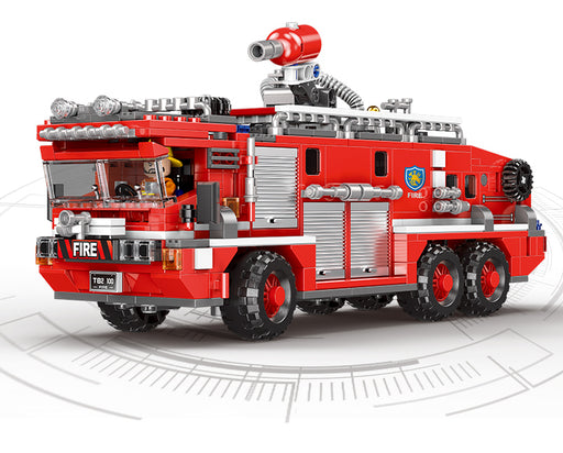Blast out ferocious flames with the 720 piece LEGO® compatible Water Cannon Fire Engine set from Bricklicious with free delivery worldwide