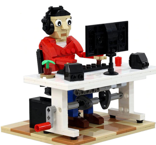 Model working from home with this 337 piece LEGO® compatible Working from Home set from Bricklicious with free delivery worldwide