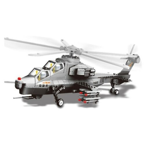 Own the battlefield with this 283 piece LEGO® compatible WZ10 Attack Helicopter set from Bricklicious with free delivery worldwide