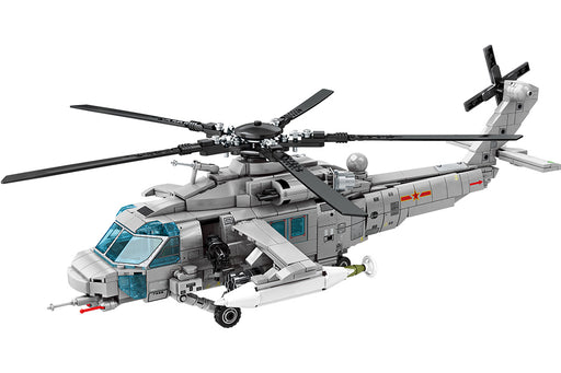 Own the battle space with this 935 piece LEGO® compatible Z20 Attack Helicopter set from Bricklicious with free delivery worldwide