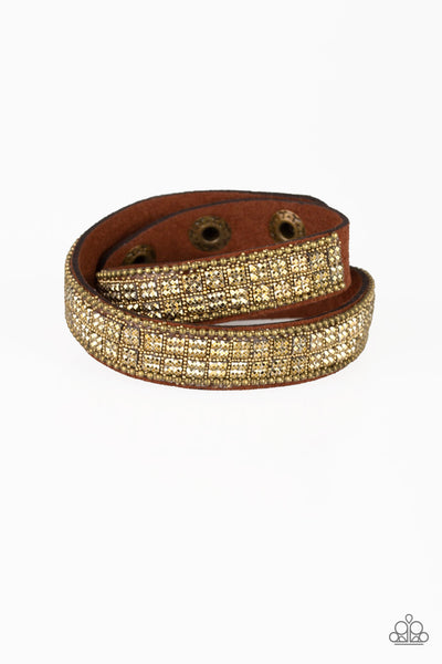 Rock Band Refinement Brass Paparazzi Bracelet