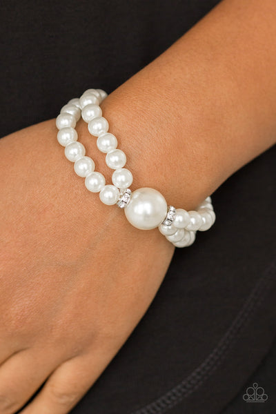Romantic Redux - White Bracelet
