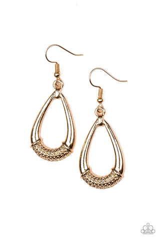 Trending Texture - Gold Earrings