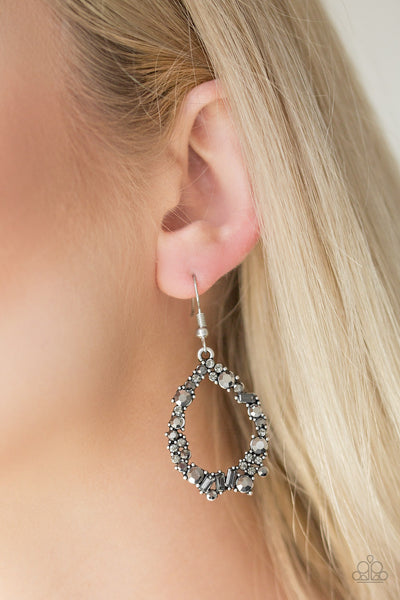 Crushing Couture - Silver Earrings