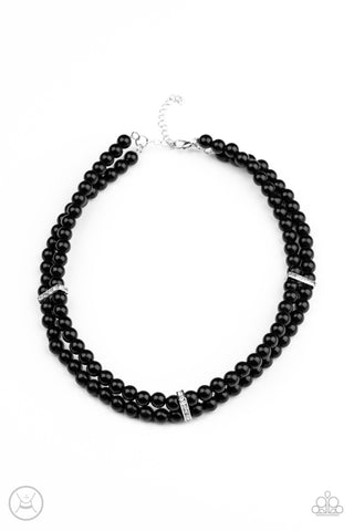 Put On Your Party Dress - Black Necklace