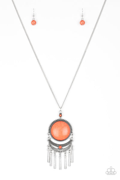 Rural Rustler Orange Paparazzi Necklace