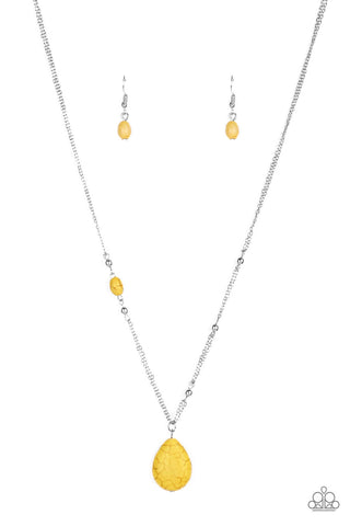 Peaceful Prairies - Yellow Necklace