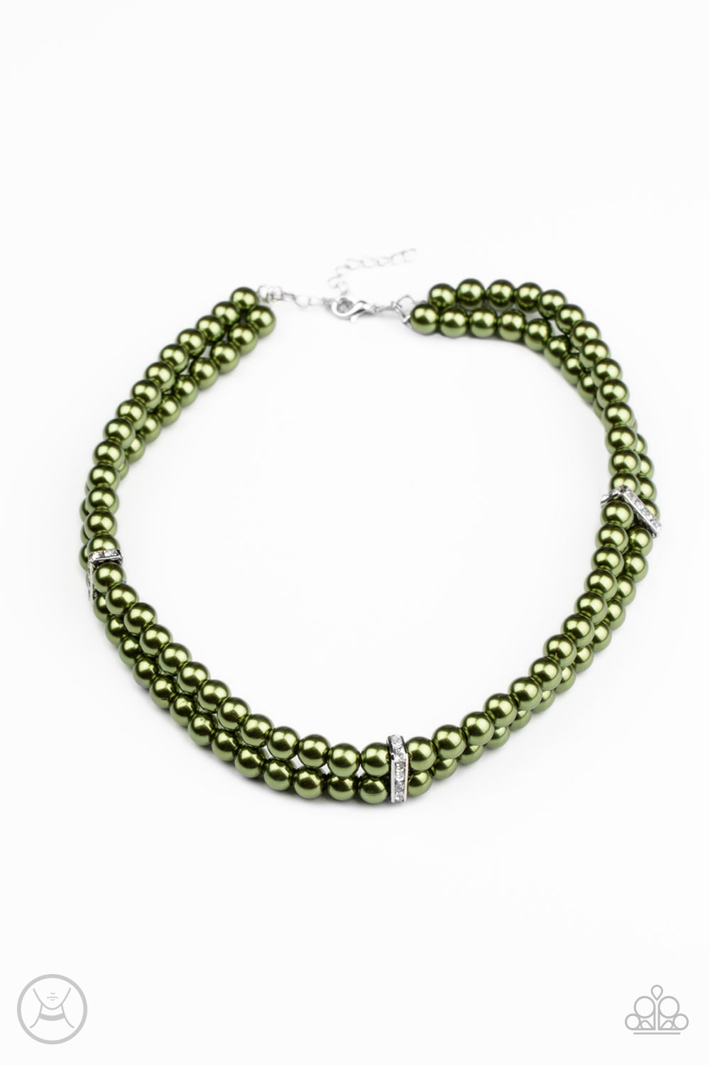 Put On Your Party Dress Green Necklace