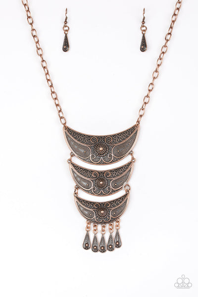 Go STEER-Crazy - Copper Necklace