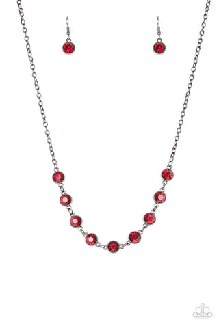 Starlit Socials - Red Necklace