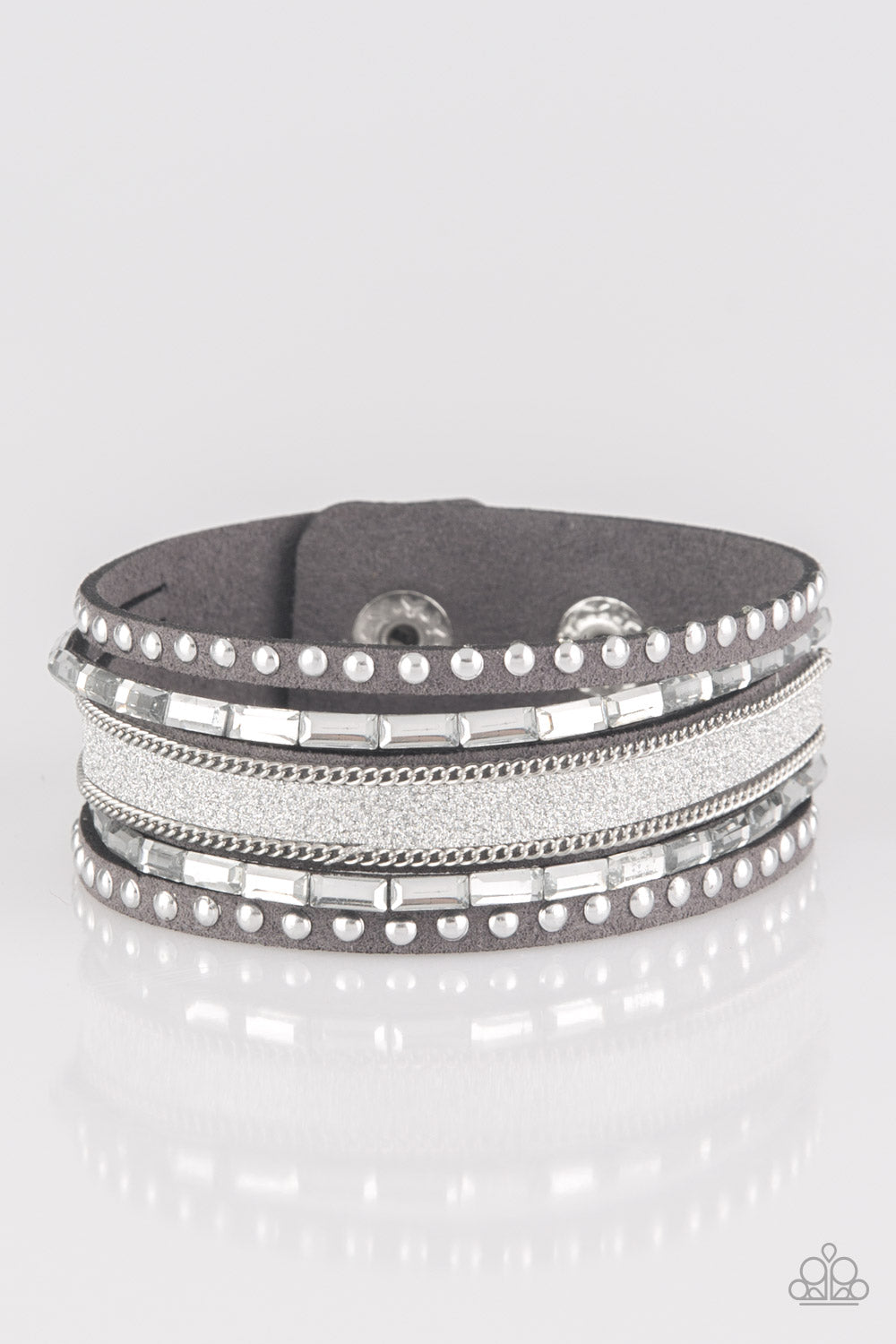 Seize The Sass Silver Paparazzi Accessories Bracelet
