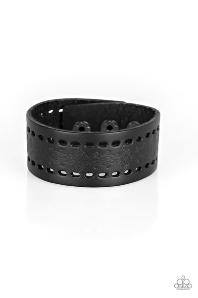 Make The WEST Of It - Black Bracelet