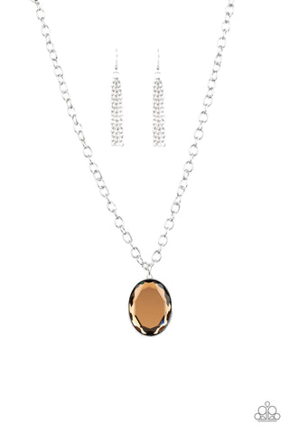 Light As HEIR - Brown Necklace