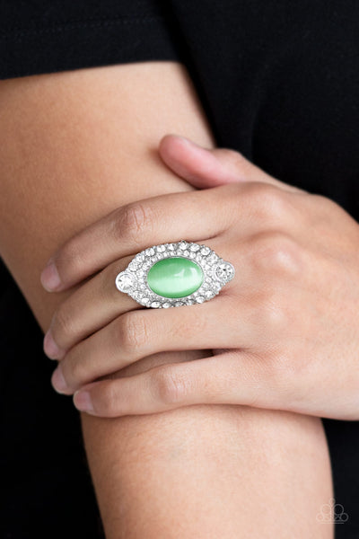 Riviera Royalty Green Ring Paparazzi Accessories
