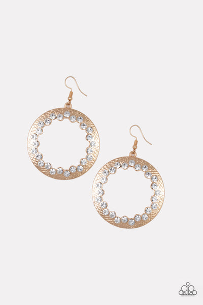 Gala Glitter - Gold Earrings