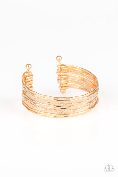Sleek Shimmer - Gold Bracelet