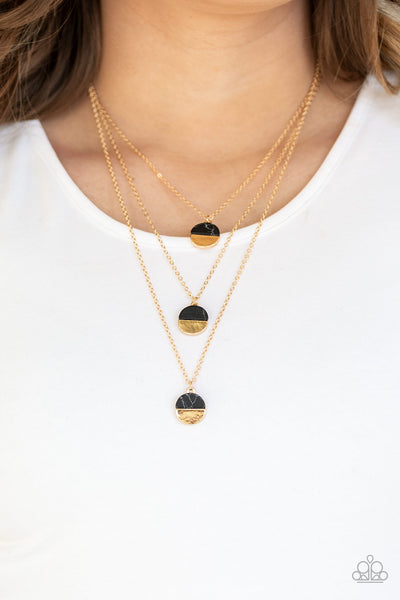 Rural Reconstruction Black Necklace Paparazzi Accessories