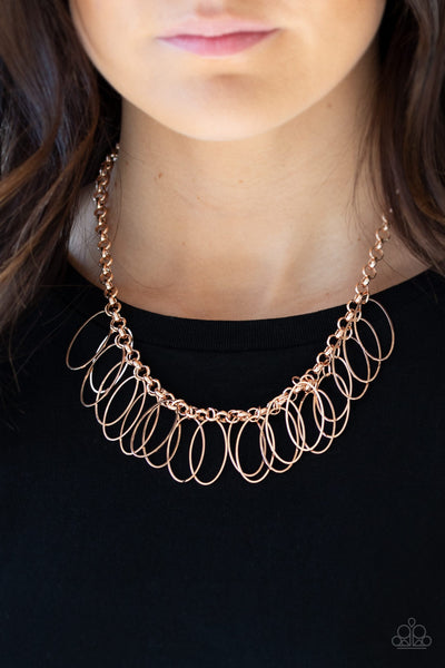 Fringe Finale - Rose Gold Necklace